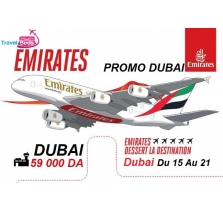 Promotion  Billet Dubai avec Fly Emirates