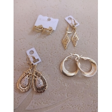 Boucles en plaque Or